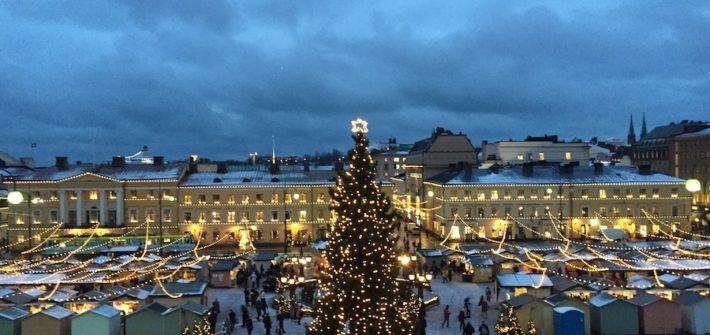 Senate Square and a Christmas market