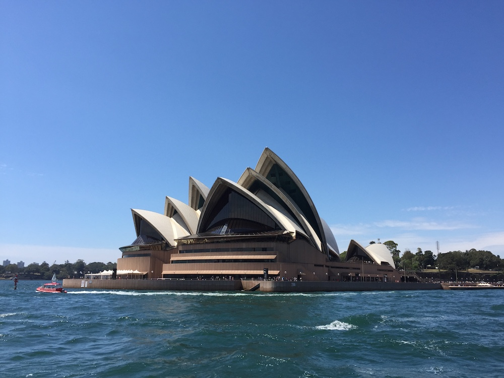 The Opera House from one of Sydney's ferries