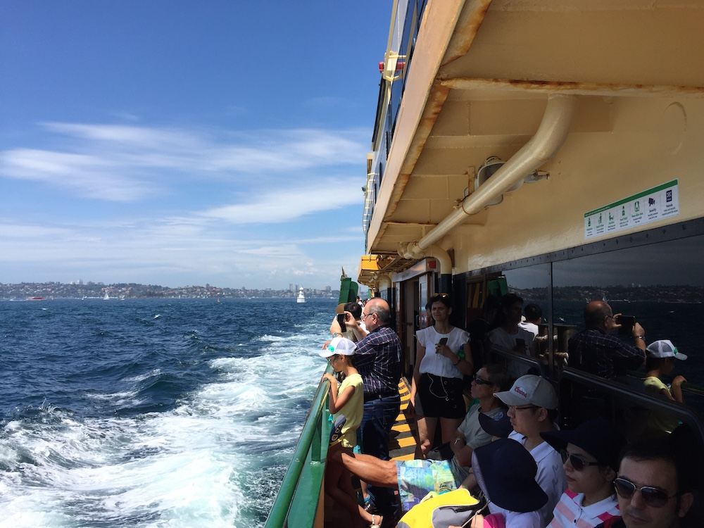 The ferry to Manly