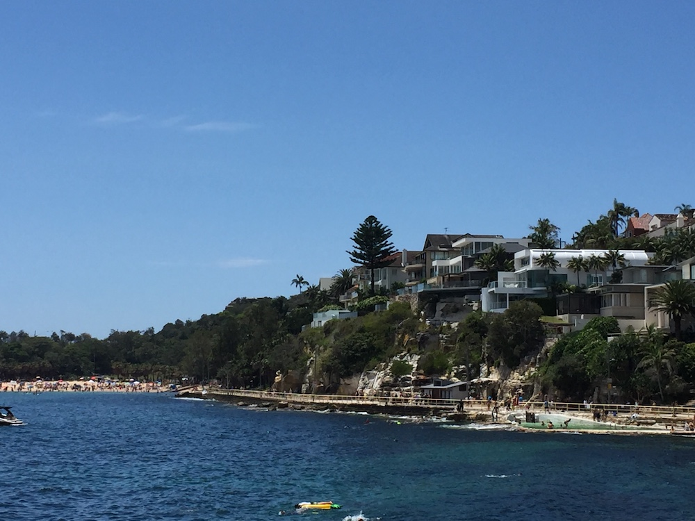 The walk round to Shelly Beach, see in the distance
