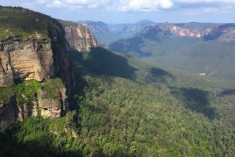 The Blue Mountains from Govetts Leap