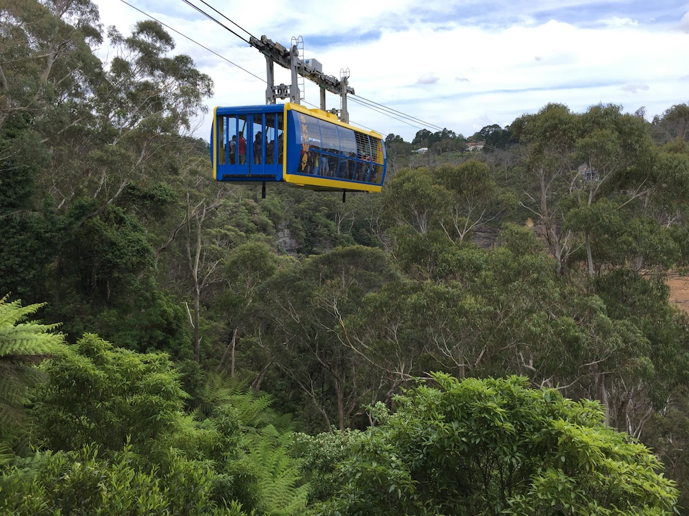 The cable car at Scenic World