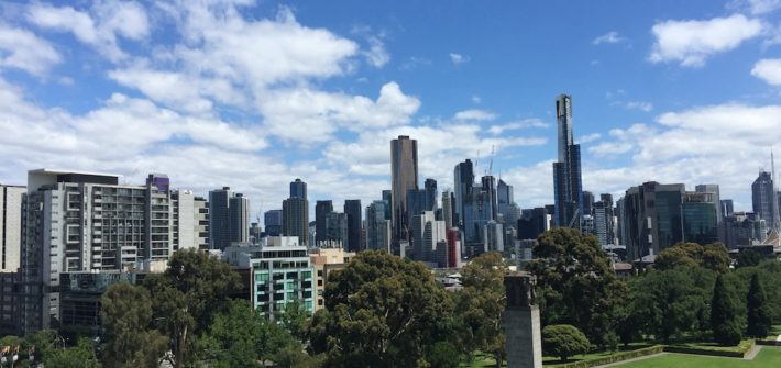 Melbourne from the Shrine of Remembrance