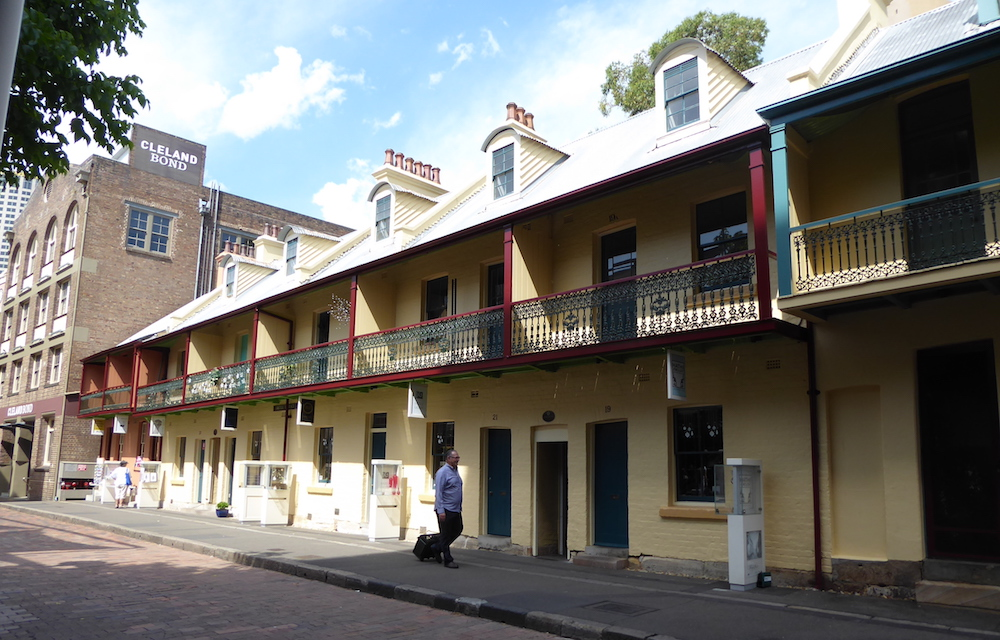 Surviving Victorian architecture in The Rocks